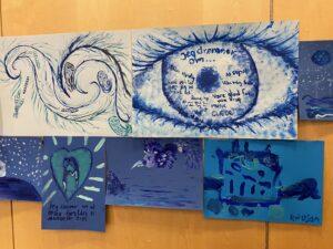 Børn og unges kunstværker fra workshop i Sisimiut