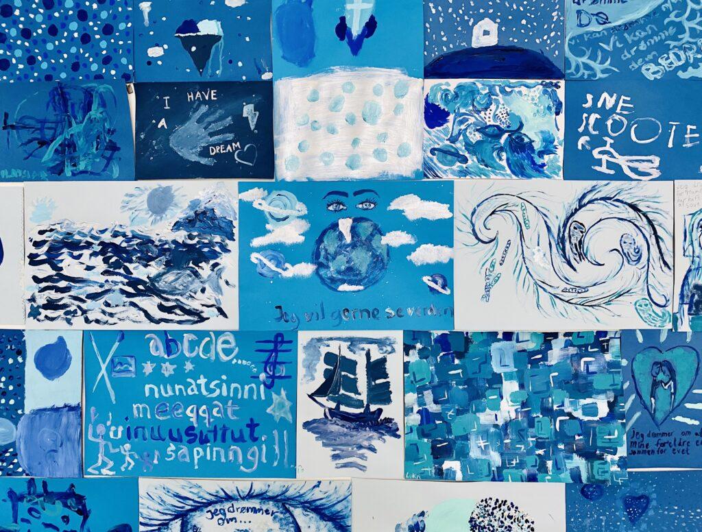 Malerier fra drømmeworkshop i Sisimiut