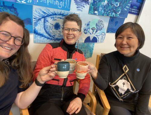NAPAs medarbejdere drikker kaffe