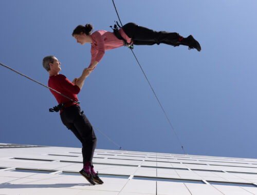 Dans over Hovedet Maliina Jensen og Kate Lawrence